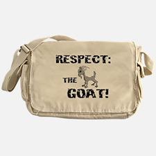 RESPECT the GOAT for Men Messenger Bag
