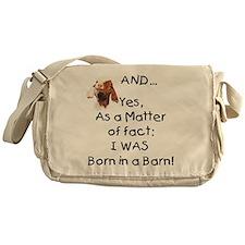 GOAT Born in Barn Messenger Bag
