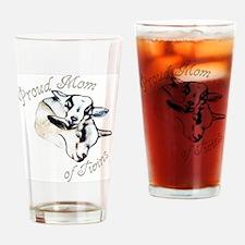 Pygmy Goat Twins Drinking Glass
