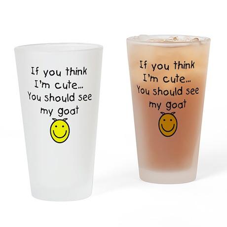 I'm Cute Goat Drinking Glass