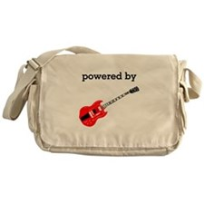 Powered By Electric Guitar Messenger Bag