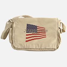 JFK: End to War Quote Messenger Bag