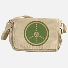 Crop Circle Peace Sign Messenger Bag