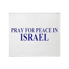 Pray for Israel Throw Blanket