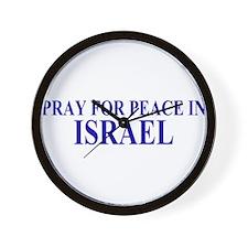 Pray for Israel Wall Clock