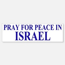 Pray for Israel Bumper Bumper Sticker