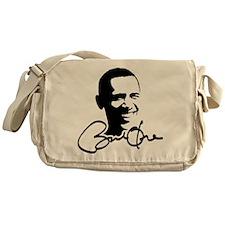 Obama Autographed Picture Messenger Bag