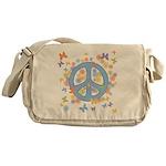 Peace & Butterflies Messenger Bag