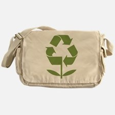 Recycle Flower Messenger Bag