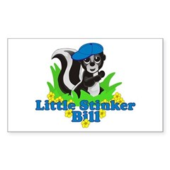 Little Stinker Bill Sticker (Rectangle 10 pk)