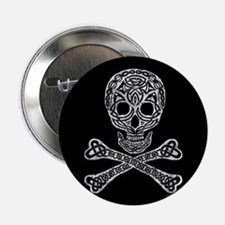 "Celtic Skull and Crossbones 2.25"" Button (100 pack"