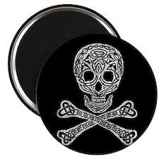 "Celtic Skull and Crossbones 2.25"" Magnet (100 pack"