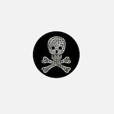 Celtic Skull and Crossbones Mini Button (10 pack)