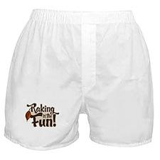 Raking in the Fun Boxer Shorts