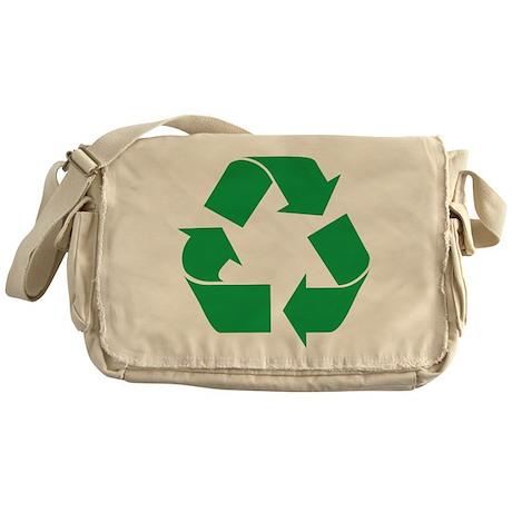 Green Recycle Messenger Bag