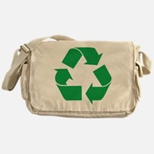 Green Recycle Messenger Bag