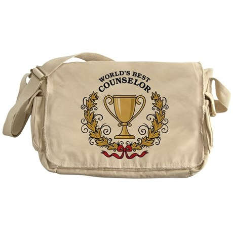 World's Best Counselor Messenger Bag