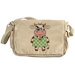Dressed Up Cow Messenger Bag