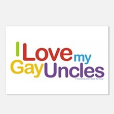 """""""I Love My Gay Uncles"""" Postcards (Package of 8)"""