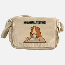 No Animal Testing! Messenger Bag