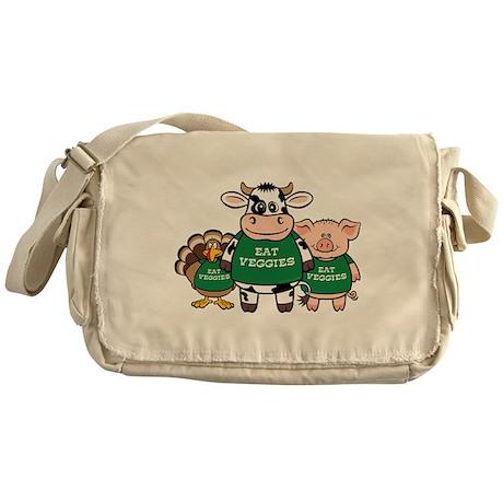 Eat Veggies Messenger Bag