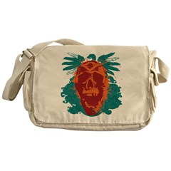 Screaming Skull Messenger Bag