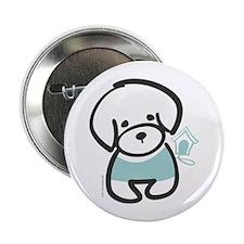 "Bichon Frise Puppy 2.25"" Button"