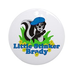 Little Stinker Brady Ornament (Round)