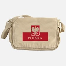Polish Flag Messenger Bag