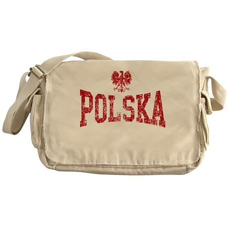 Polska White Eagle Messenger Bag