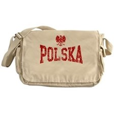 Polska White Eagle Messenger Bag
