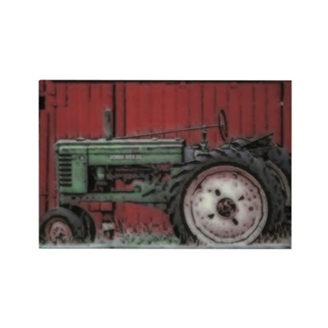 Farm Tractor Rectangle Magnet (100 pack)