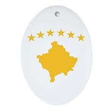Kosovo Flag Ornament (Oval)