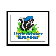 Little Stinker Brandon Framed Panel Print