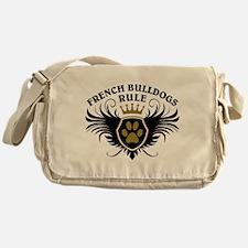 French Bulldogs Rule Messenger Bag