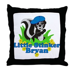 Little Stinker Bryan Throw Pillow