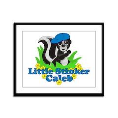 Little Stinker Caleb Framed Panel Print