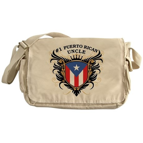 Number One Puerto Rican Uncle Messenger Bag