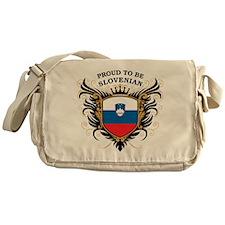 Proud to be Slovenian Messenger Bag