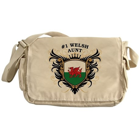 Number One Welsh Aunt Messenger Bag