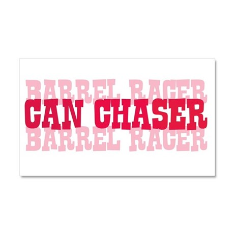 Fun cowgirl Can Chaser Barrel Car Magnet 20 x 12