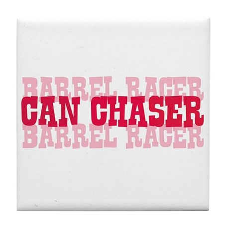 Fun cowgirl Can Chaser Barrel Tile Coaster