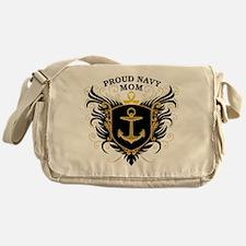 Proud Navy Mom Messenger Bag