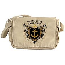 Proud Navy Daughter Messenger Bag