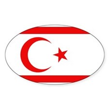 Northern Cyprus Flag Oval Decal