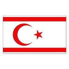 Northern Cyprus Flag Rectangle Decal