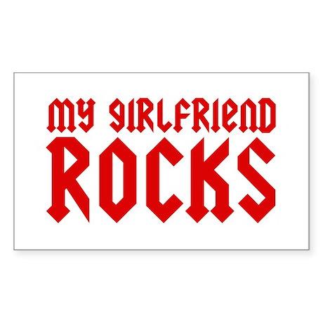 My Girlfriend Rocks Rectangle Sticker