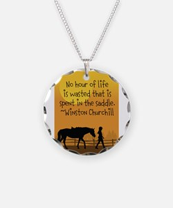 Horse and Child Necklace