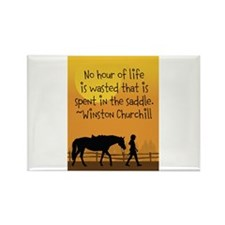 Horse and Child Rectangle Magnet