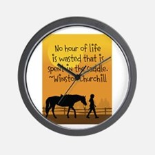 Horse and Child Wall Clock